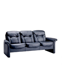 9690/3 executive sofa w/leather black