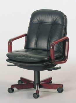 8998w executive chair w/leather black
