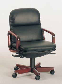8795W executive chair w/leather black