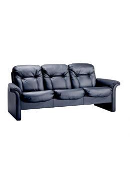 9690/3 executive sofa w/leather black