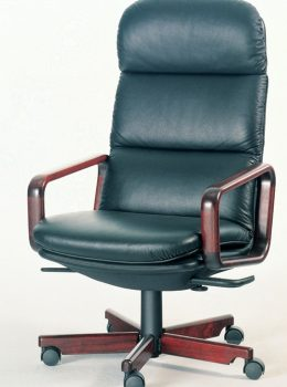 8497W executive chair w/leather black (rosewood)